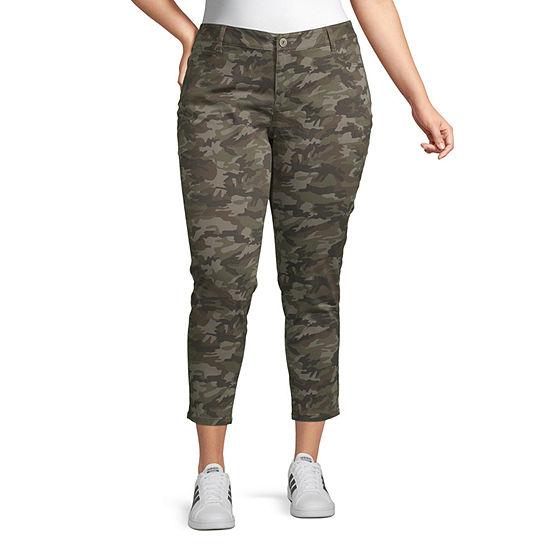 Arizona-Juniors Plus Womens Skinny Fit Ankle Pant