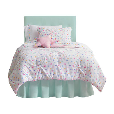 Frank And Lulu Confetti Reversible Embellished Reversible Comforter Set