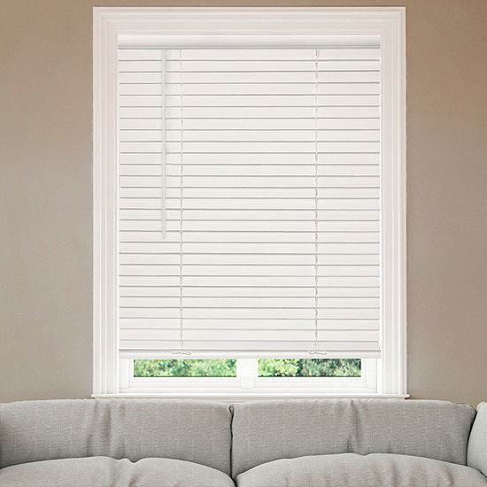 "Home Expressions 2"" Cordless Faux Wood Blinds"