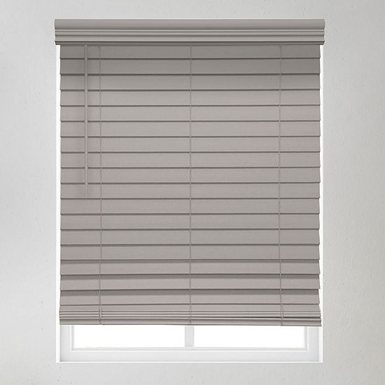 """JCPenney Home Premium 2 1/2"""" Cordless Faux Wood Blinds"""