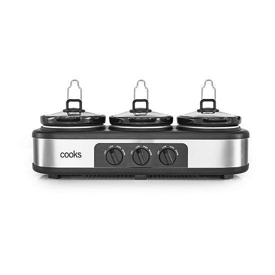 Cooks 3 x 1.5 Quart Triple Slow Cooker