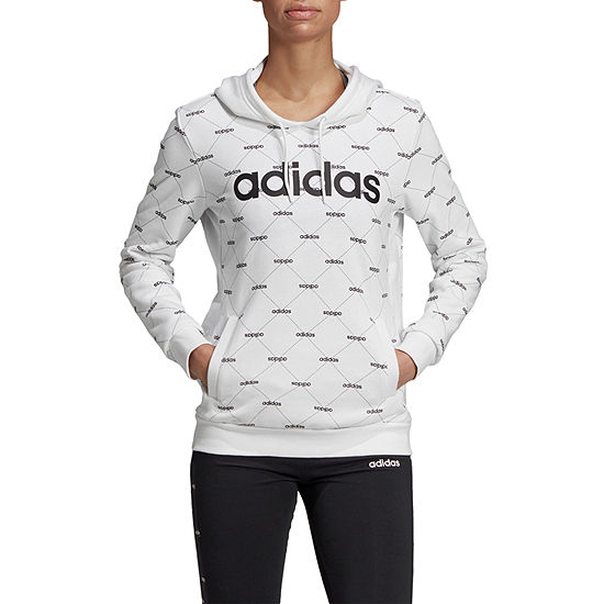 adidas Core Favorite Womens Long Sleeve Knit Hoodie