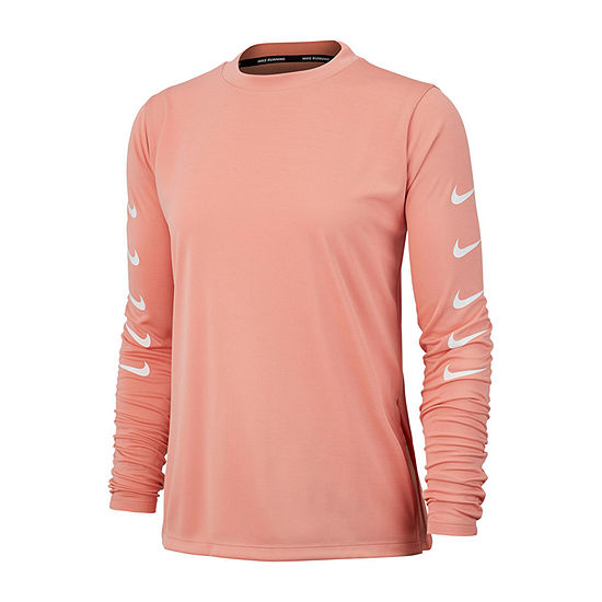Nike Womens Mock Neck Long Sleeve Quarter-Zip Pullover