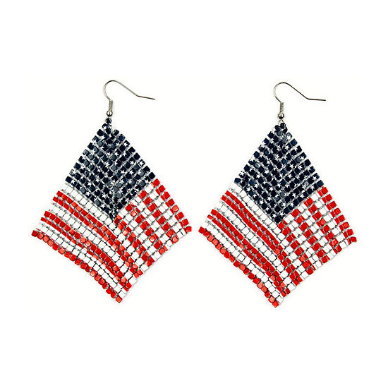 Arizona American Flag Drop Earrings