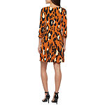 MSK 3/4 Sleeve Animal Swing Dresses