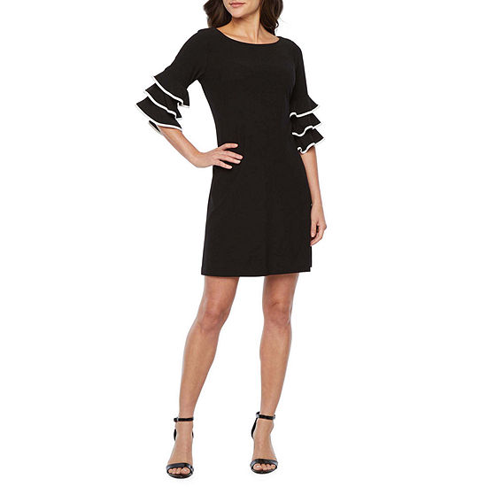Danny & Nicole 3/4 Cha Cha Sleeve Shift Dress