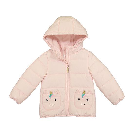 Carter's - Girls Fleece Lined Heavyweight Puffer Jacket-Preschool