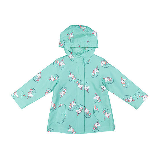 Carter's Unicorn Baby Girls Hooded Water Resistant Lightweight Raincoat