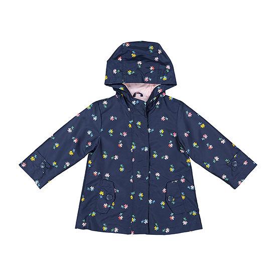 Carter's Girls Hooded Water Resistant Lightweight Raincoat-Baby