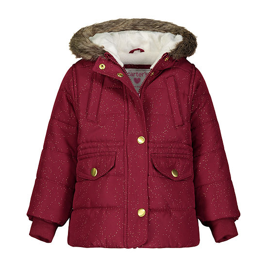 Carter's Girls Hooded Water Resistant Heavyweight Parka-Baby