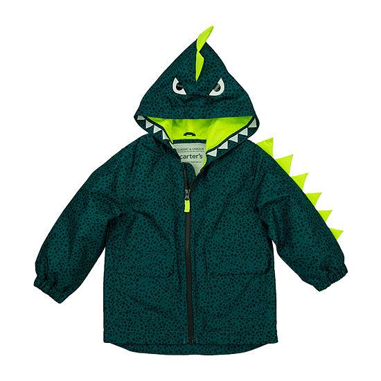 Carter's Boys Hooded Water Resistant Lightweight Raincoat-Baby