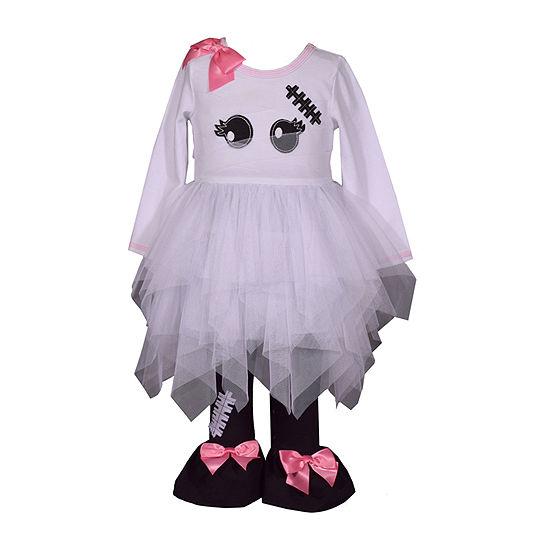 Bonnie Jean Halloween Girls 2-pc. Legging Set-Toddler