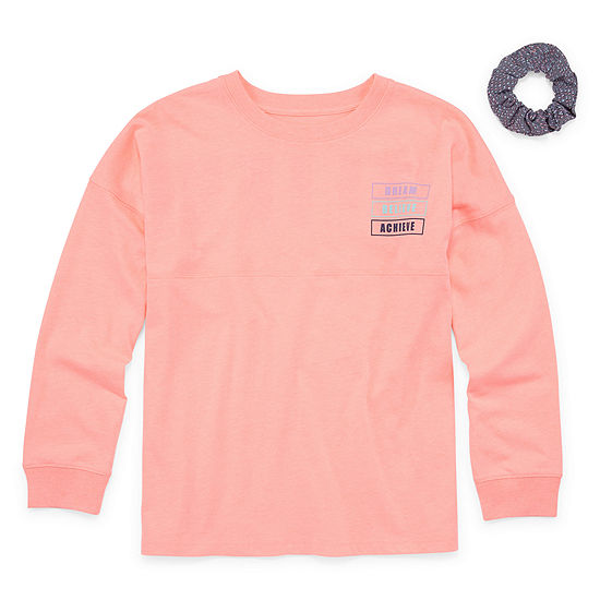 Xersion Girls Round Neck Long Sleeve Tunic Top Preschool / Big Kid