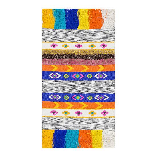 nuLoom Willene Tribal Jute Hand Woven Rug