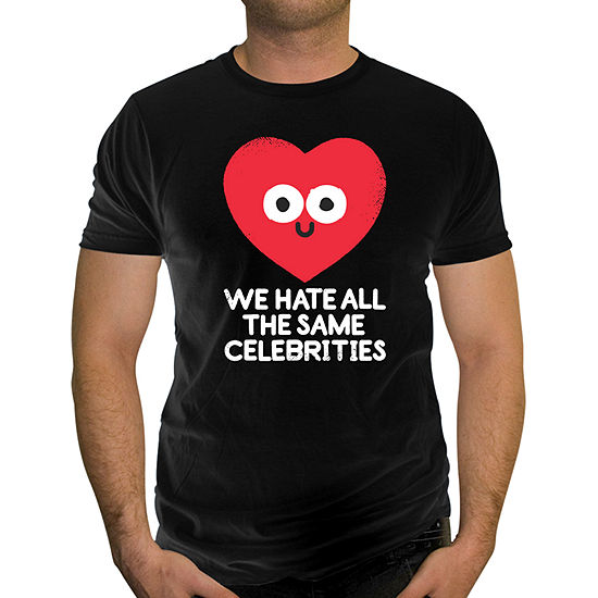 Mens Crew Neck Short Sleeve Humor Graphic T-Shirt