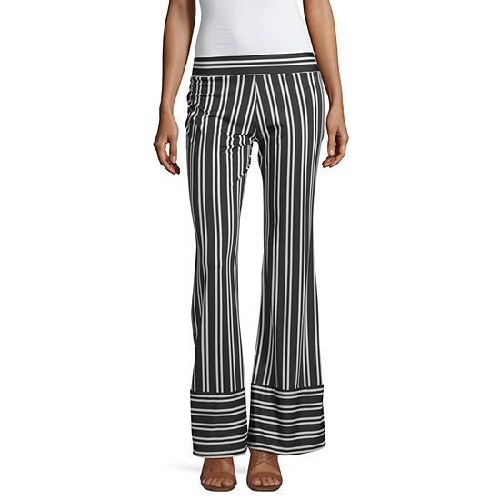 by&by-Juniors Mid Rise Flare Pull-On Pants