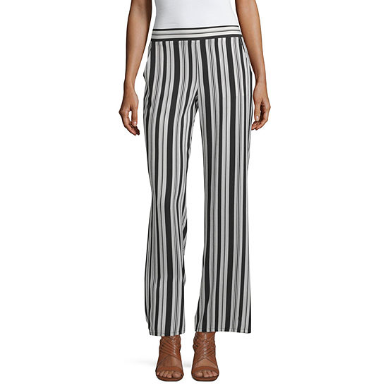 by&by-Juniors Womens Mid Rise Wide Leg Pull-On Pants