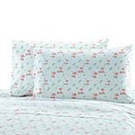 Harper Lane Tropical Escape Flamingo Crowd Microfiber Easy Care Sheet Set