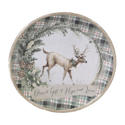 Certified International Holly And Ivy Serving Platter
