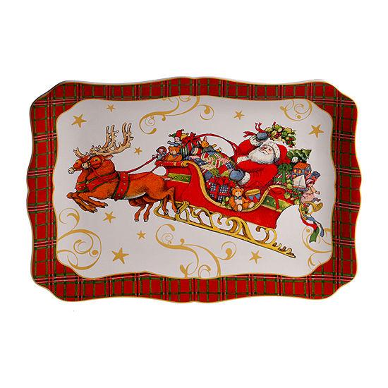 Certified International Vintage Santa Serving Platter