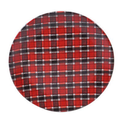Certified International Plaid Serving Platter