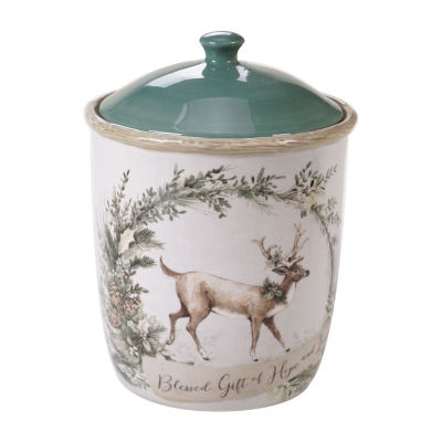 Certified International Holly And Ivy Cookie Jar