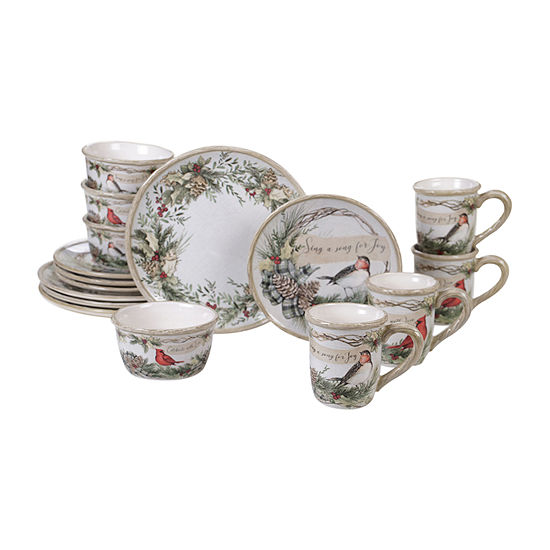 Certified International Holly And Ivy 16-pc. Dinnerware Set