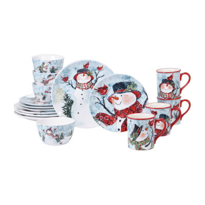 Certified International Watercolor Snowman 16-pc. Dinnerware Set
