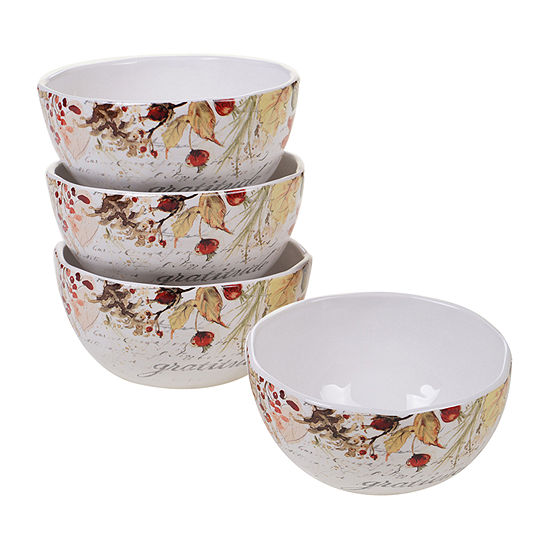 Certified International Harvest Splash 4-pc. Ice Cream Bowl