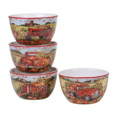 Certified International Harvest Bounty 4-pc. Ice Cream Bowl