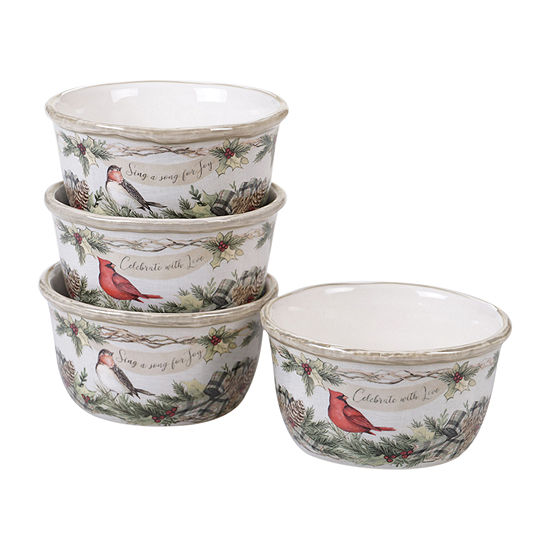 Certified International Holly And Ivy 4-pc. Ice Cream Bowl
