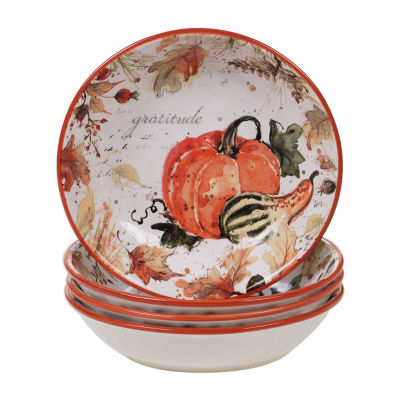 Certified International Harvest Splash 4-pc. Soup Bowl