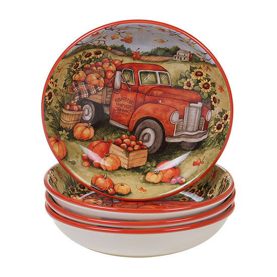Certified International Harvest Bounty 4-pc. Soup Bowl