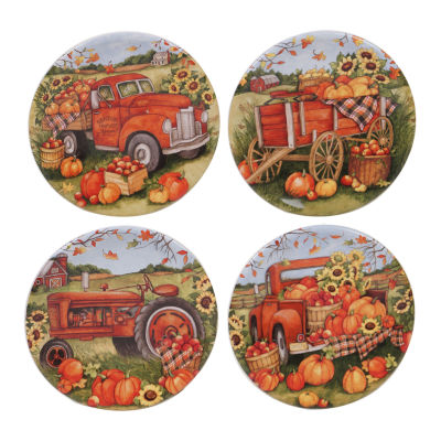 Certified International Harvest Bounty 4-pc. Appetizer Plate