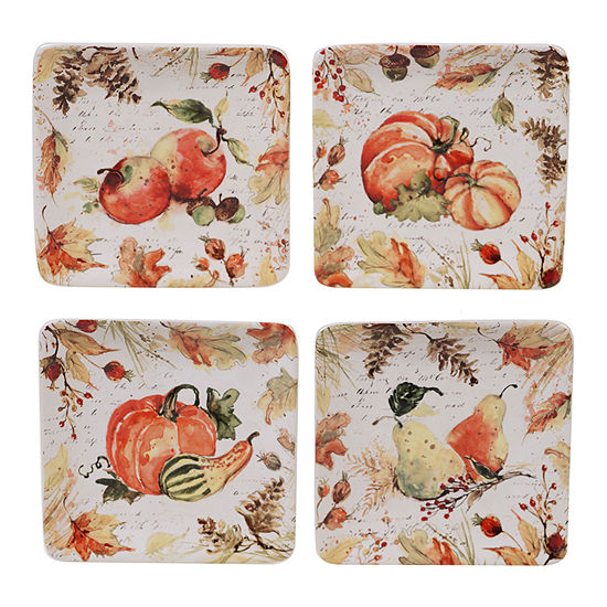Certified International Harvest Splash 4-pc. Appetizer Plate