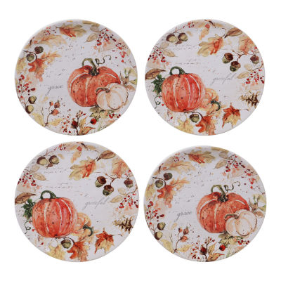 Certified International Harvest Splash 4-pc. Salad Plate