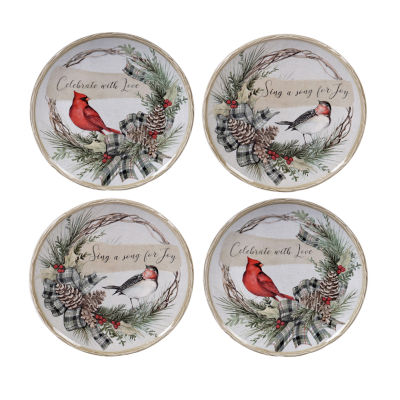 Certified International Holly And Ivy 4-pc. Dessert Plate