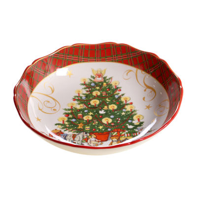 Certified International Vintage Santa Serving Bowl