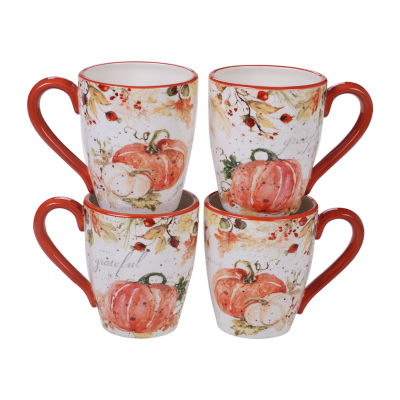 Certified International Harvest Splash 4-pc. Coffee Mug