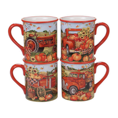 Certified International Harvest Bounty 4-pc. Coffee Mug