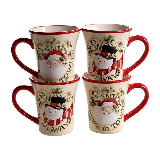 Certified International Believe 4-pc. Coffee Mug