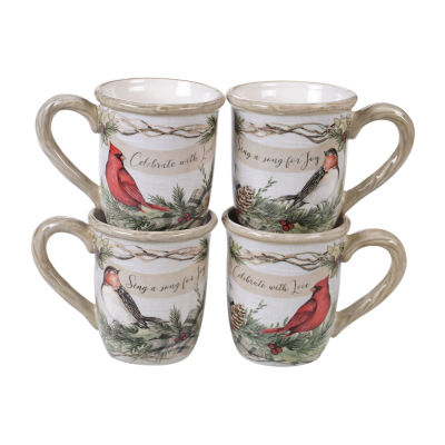 Certified International Holly And Ivy 4-pc. Coffee Mug