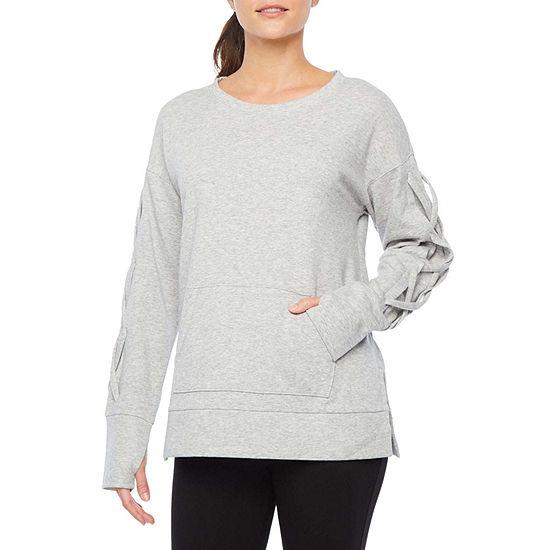 Xersion Womens Scoop Neck Long Sleeve Sweatshirt