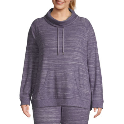 St. John's Bay Active-Plus Womens Cowl Neck Long Sleeve Tunic Top