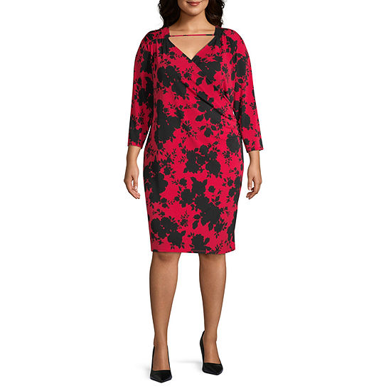 Bold Elements Womens Surplice Dress - Plus