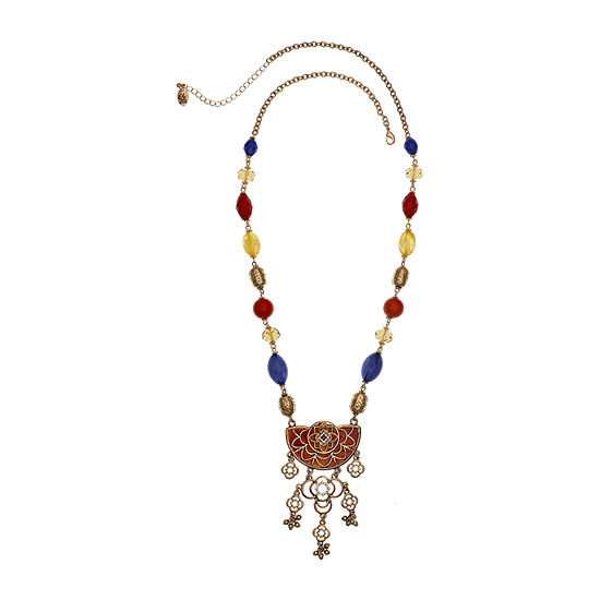 EL by Erica Lyons Brights 28 Inch Cable Beaded Necklace