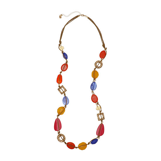 Erica Lyons Brights Womens Beaded Necklace