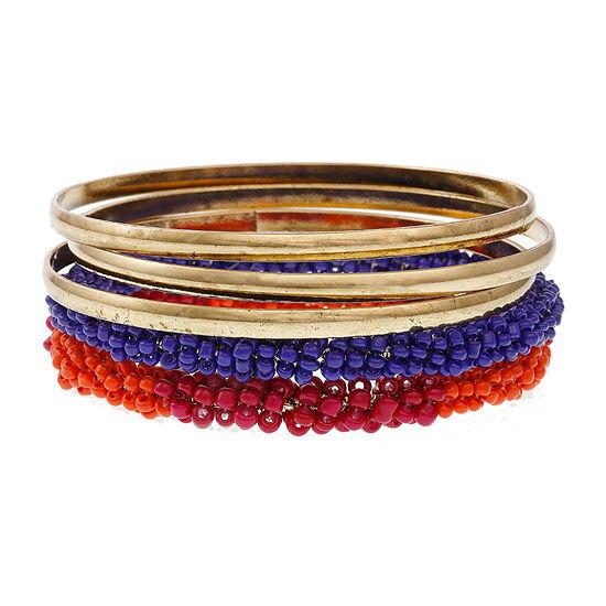 Erica Lyons Brights Gold Tone Bangle Bracelet