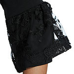Robbie Bee 3/4 Sleeve Embroidered Shift Dress