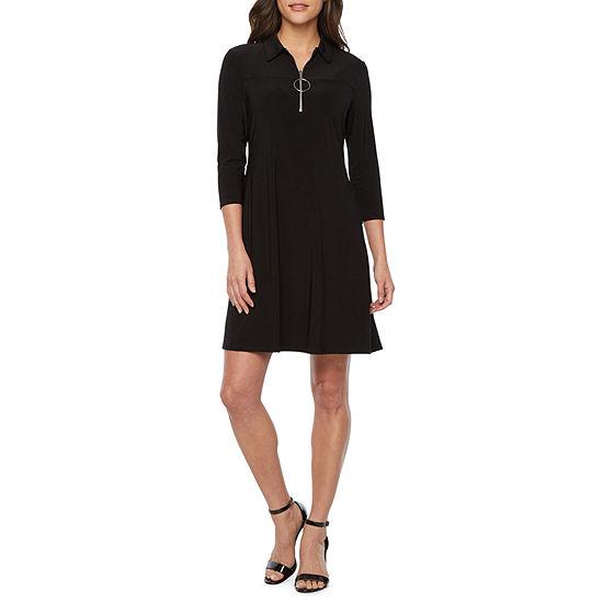 MSK 3/4 Sleeve Shift Dress